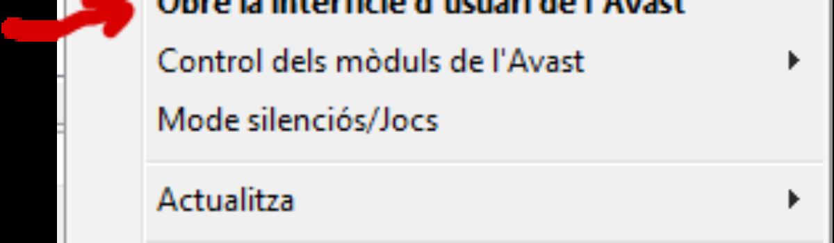 Avast 2015: Desactivar mòdul d'anàlisi en connexions HTTPS